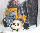 Halloween Yard Home Decorations Skull Tombstones Rat Skeltons Plaques 11 Pc LOT
