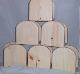 Wholesale Lot Of 6 Unfinished Napkin Holders Solid Wood Made In USA