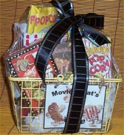 Gift Basket Movie Treats Popcorn