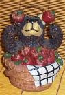 Bear & Apple Ceramic Bank Cabin Lodge Country Decor / w