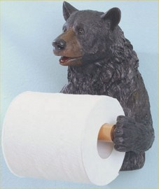 Outdoorsman Bear Toilet Paper Holder Lodge Cabin Country Bathroom Decor Lg