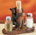 Bear Toothpick Salt & Pepper Holder Lodge Cabin Country Decor Home Decoration