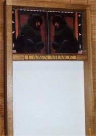 Black Bear Memo Board Erase Message Lodge Cabin Decor