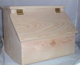 Bread Box Solid Hard Wood Unfinished Handcrafted In USA