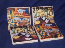 Fat French Chef Coasters