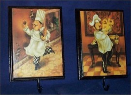 Fat Chef Wall Hooks / Pictures #Brk