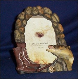 Lodge Look Fish Picture Frames Country Farm Decor