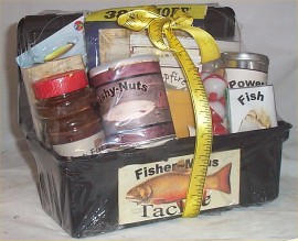 Tackle Box Mens Gift Basket Fun Fishing Gift Basket Men
