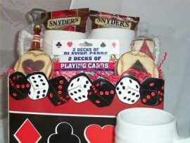Poker Gift Basket Mens Gift Steins Mugs Cards Any Ocassion Holiday