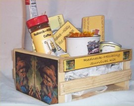 Gift Basket Hillybilly Red neck Wood Crate Gift Mug Coffee Chocolate Nuts More