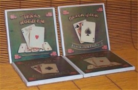 Retro Style Black Jack/ Texas Holdem Drink Coasters