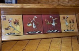 Lady Fat Chef Wood Shelf bistro french Cafe home decor