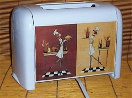 Lady Fat Chef Toaster Bistro Waiter Home Proctor silex 2 slice wide slot White