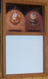 Coffee Latte Menu Memo Message Board Cafe Cappuccino