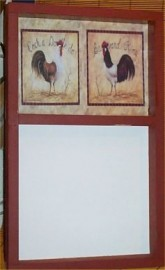 Rooster Memo Erase Message Board Farm Country Decor New