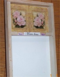 Cottage Chic Memo Board Erase Message Victorian Rose