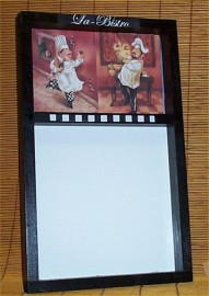 Fat Chef Menu Memo Message Board Marker Bistro Wall Brick #4blk