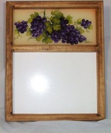 Erasable Memo Board Grape Tuscan Message Wall Decor New