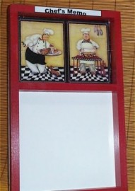 Fat Chef Memo Message Board Erase Marker Bistro R/Blk