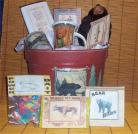 Moose Bear Lodge Cabin Gift Basket Men Hunting Gift