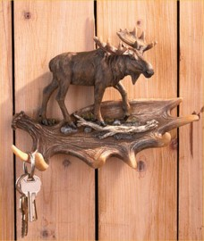 Moose Wall Hook Cabin Lodge Decor Country Decoration