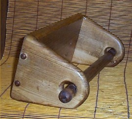 Paper Towel Holder Wood Handcrafted Solid wall mount or under cabinet mount