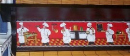 Fat Chef Black Wall Shelf Red Chefs B/Red bord
