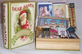 Chocolate Lovers Gift Basket Book Santa Claus Hide a Book Hershey Ghirardelli