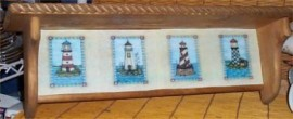 Nautical Wood Wall Shelf lighthouse Decor Home Kitchen O/Nau/Lig