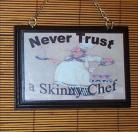 Fat Chef Wall Plaque
