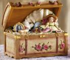 Trinket Chest Music Box Victorian Gift Ladies or Girls