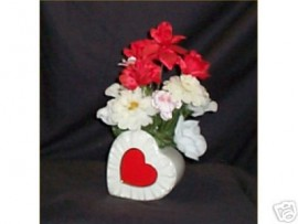Valentine Mothers Day Flowers Floral Gift Heart Silk