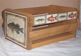 Gift Basket Empty Wood Crate Fish Decor Lodge Decoration Use for Gift Basket #1
