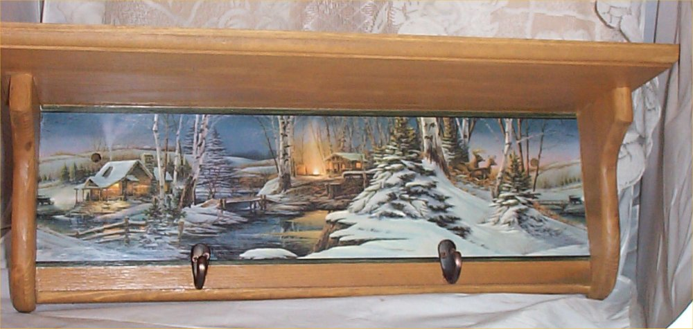 Wood Shelf Solid Pine Deer Lodge Plate Rack Country Home Decor Handcrafted
